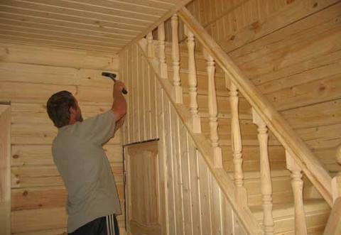 Как крепить деревянную вагонку