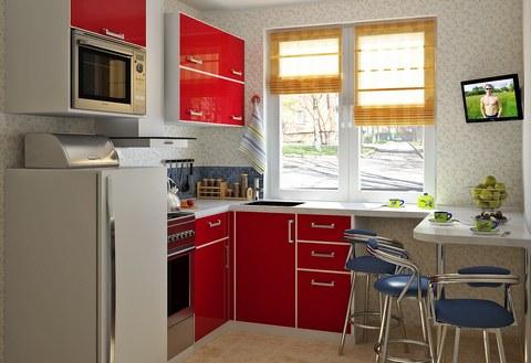 Как обустроить маленькую кухню фото