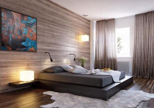 Ламинат для спальни в интерьере