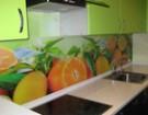 Стеклянные стеновые панели для кухни