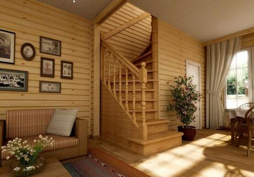Деревянные лестницы в интерьере фото