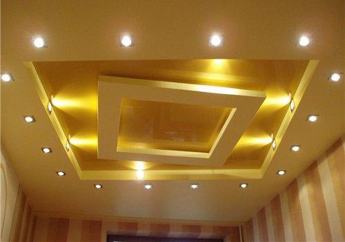 Как сделать двухуровневый потолок